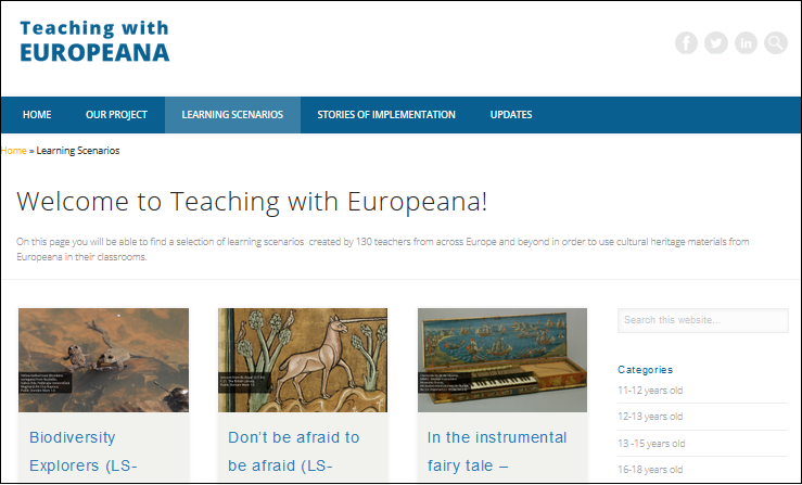 Teaching with Europeana, the blog