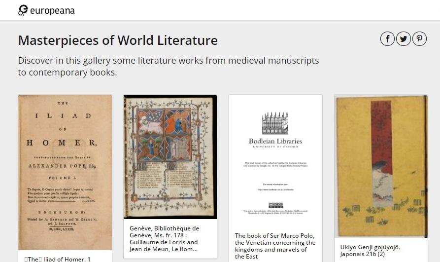 Europeana Book Month campaign
