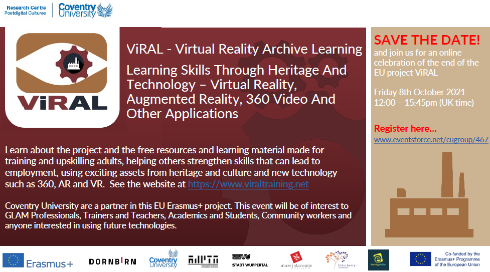 Virtual Reality Archive Learning – Teaching Skills Through Heritage And Technology Event