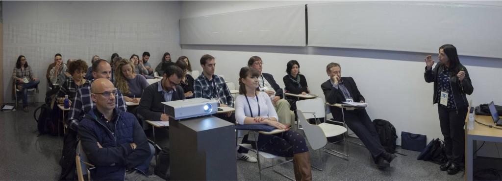 Tallers de les 14es Jornades Imatge i Recerca a l'Auditori de Girona. Preforma: Una eina per millorar la presentació del patrimoni digital. Professors: Antonella Fresa, Magnus Geber i Miquel Montaner.