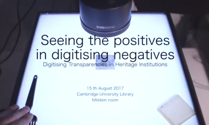 2017 Seeing the positives in digitising negatives: unconference