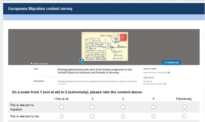 Europeana Migration: what content would you like to explore? We want your opinion!
