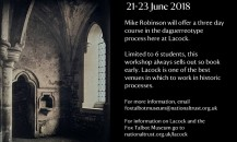 Daguerreotype at Lacock – a workshop