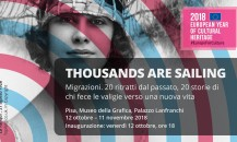 Thousands are Sailing, photograhic exhibition in Pisa, 12 Oct – 11 Nov 2018