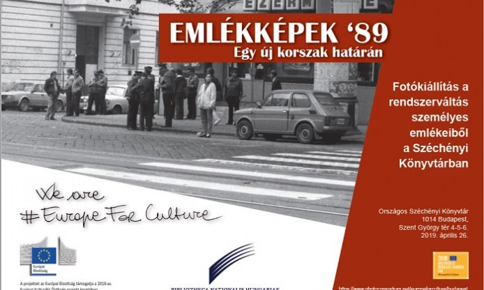 1989 and its changes – Exhibition in Budapest, 26th April 2019