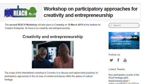 Participatory approaches for creativity and entrepreneurship – REACH workshop