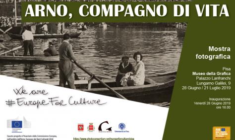 Arno, Compagno di Vita – exhibition in Pisa, 28 June 2019