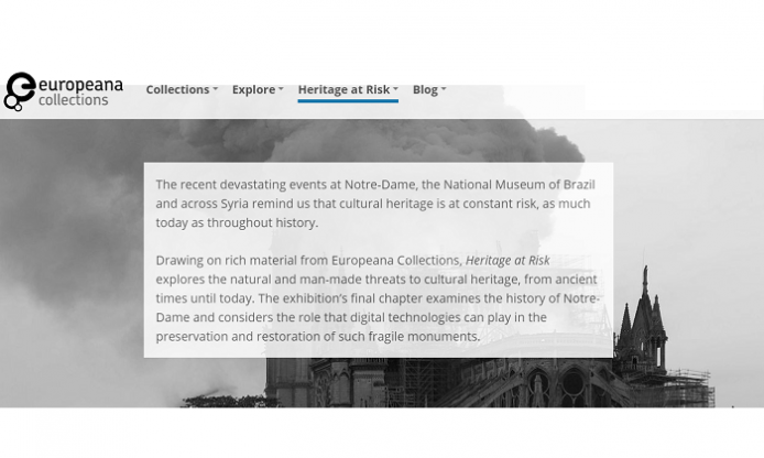 Heritage at Risk, online exhibition on Europeana