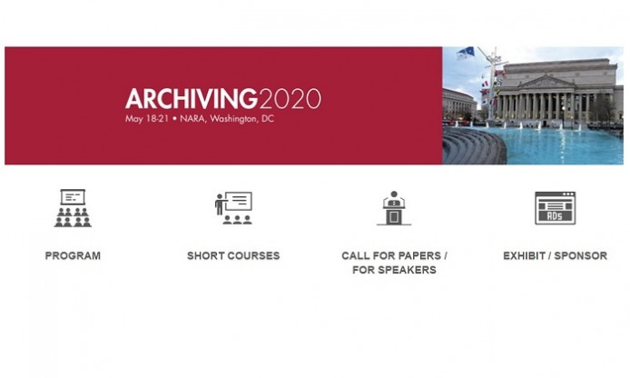 Archiving 2020 – conference in Washington DC 18-21 May 2020