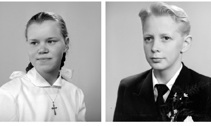 Fifties Friday: Confirmation portraits by Albin Lövqvist