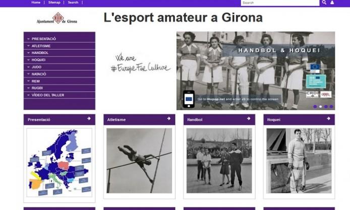 Amateur sport in Girona, virtual exhibition
