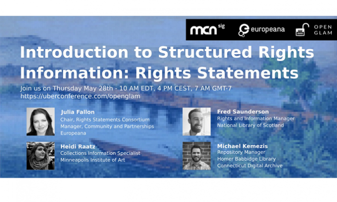 Third webinar about GLAMs and copyright – 28/5 h. 16 CEST