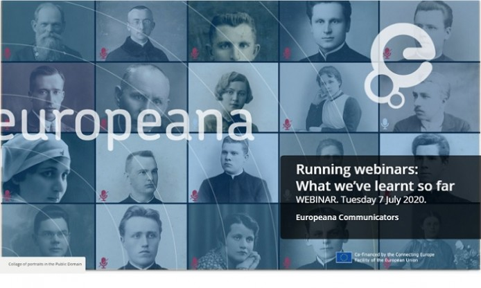 "Recording now available for Europeana's ""Running webinars: what we've learnt so far"""