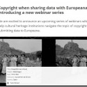 Copyright when sharing data with Europeana – a webinar series