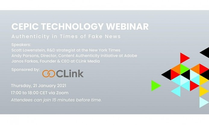 Webinar by CEPIC on Authenticity in Times of Fake News