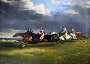 Le derby d'Epsom, by Théodore Géricault, 1821.