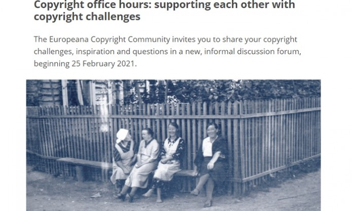 Copyright office hours – meetings with Europeana Copyright Community